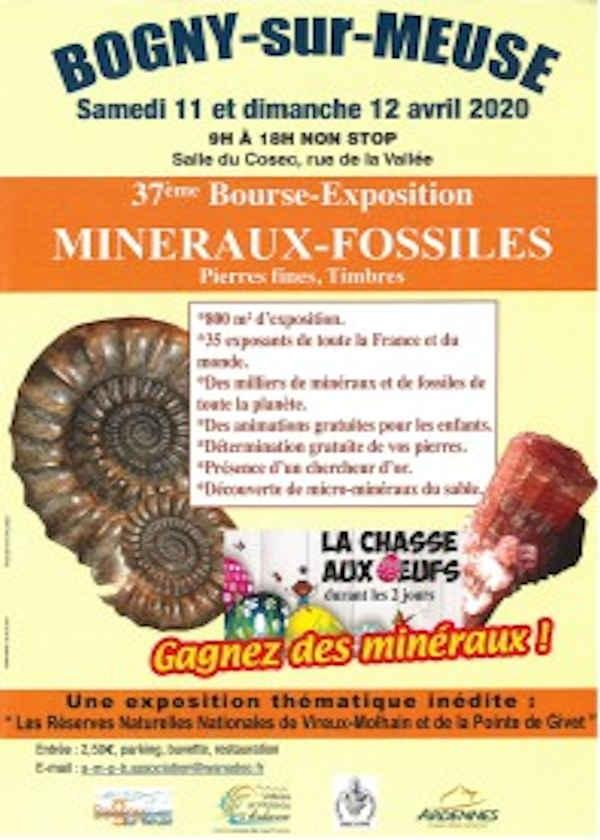 37. Börsenausstellung fossile Mineralien feine Stein Briefmarken