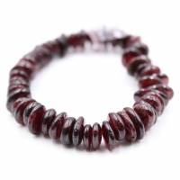 Granat-Armband