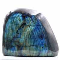 Labradoritblock mit blauen Reflexionen