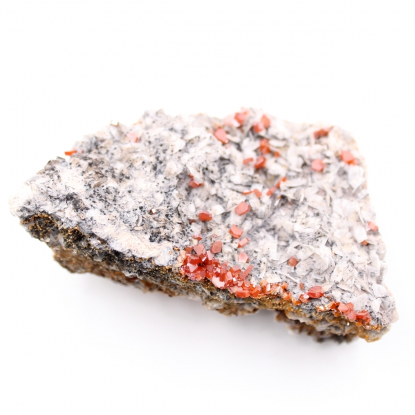 Vanadinitkristalle auf Gangart